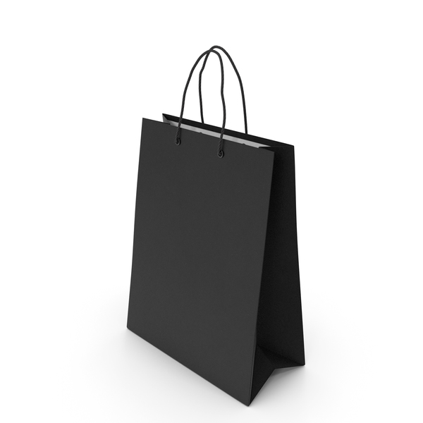 Gift: Black Shopping Bag PNG & PSD Images