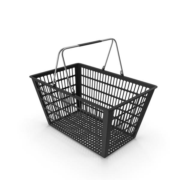 Black Shopping Basket PNG & PSD Images