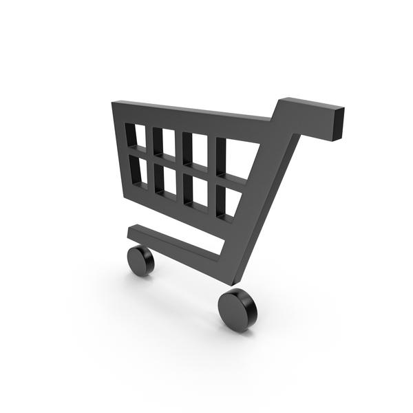 Cart: Black Shopping Card Symbol PNG & PSD Images