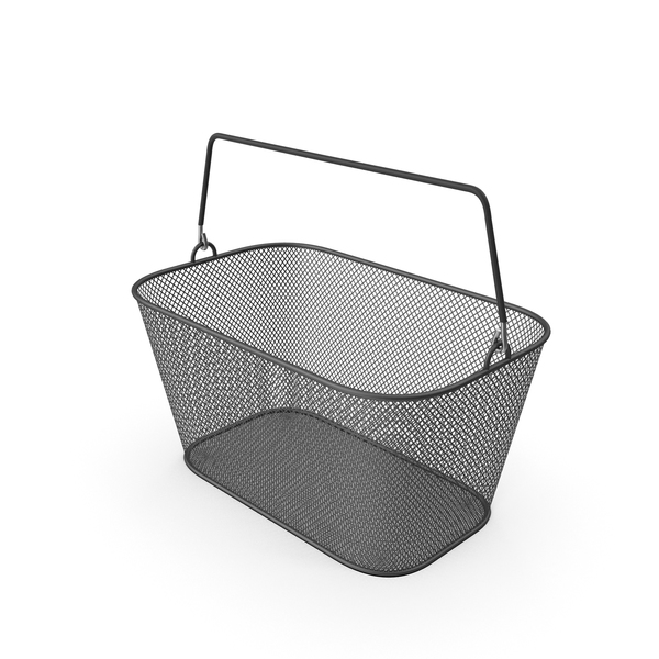 Black Shopping Wire Mesh Basket PNG & PSD Images