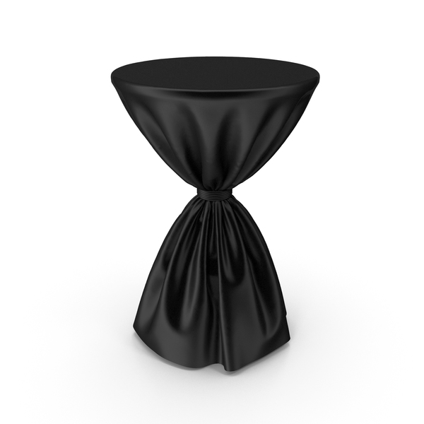 Black Silk Tablecloth Cocktail Table PNG & PSD Images