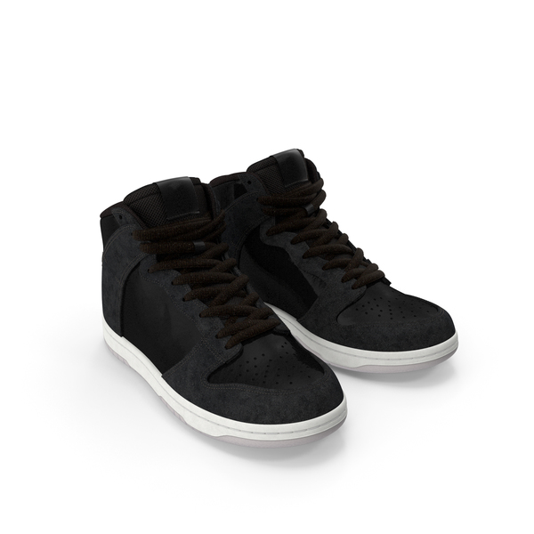 Black Skateboarding Shoes PNG & PSD Images
