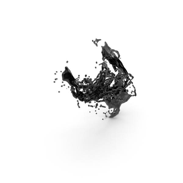 Black Splash PNG & PSD Images