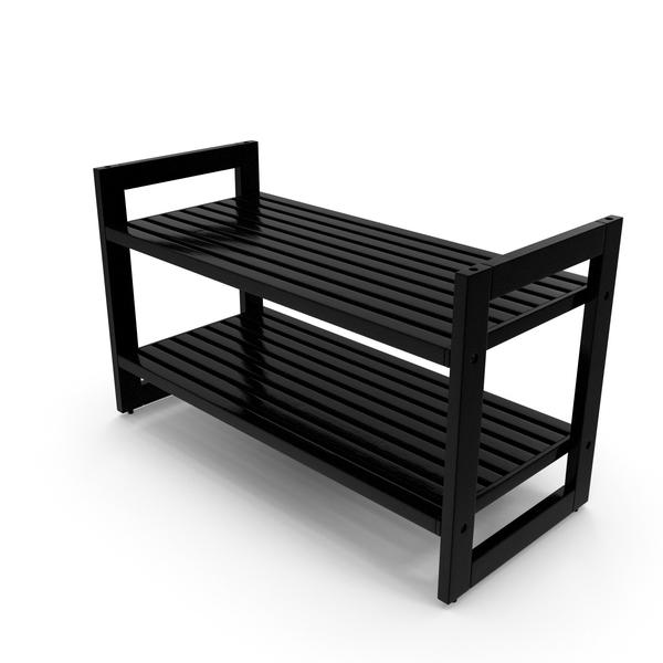 Black Stackable Shoe Rack PNG & PSD Images