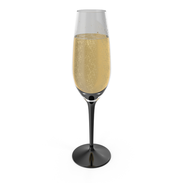 Black Stem Champagne Glass PNG & PSD Images
