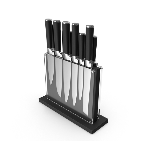 Black Subway Knife Block Set PNG & PSD Images