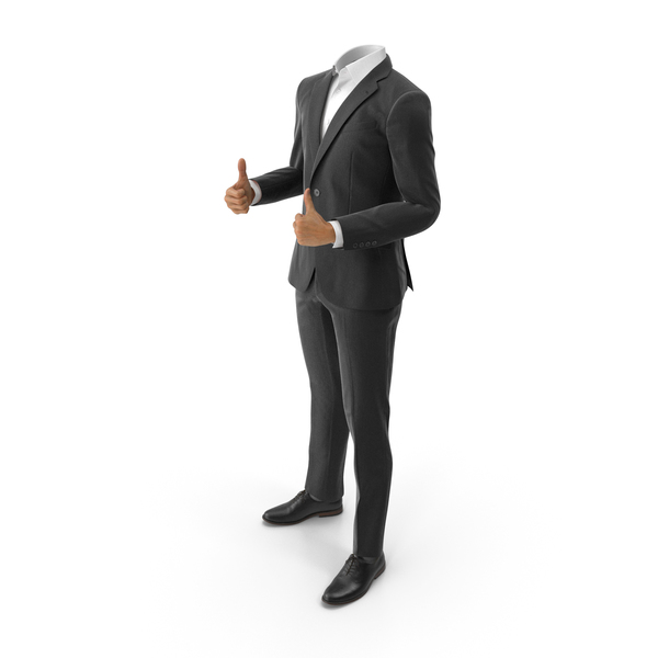 Clothing: Black Suit Thumbs Up PNG & PSD Images