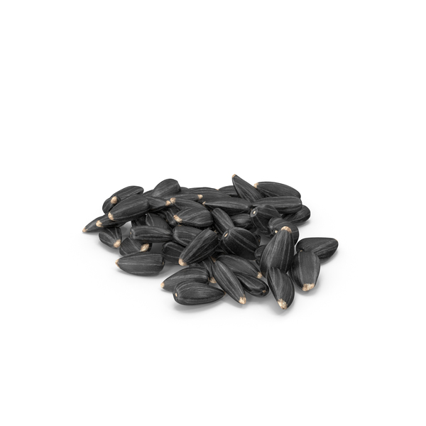 Black Sunflower Seeds Pile PNG & PSD Images