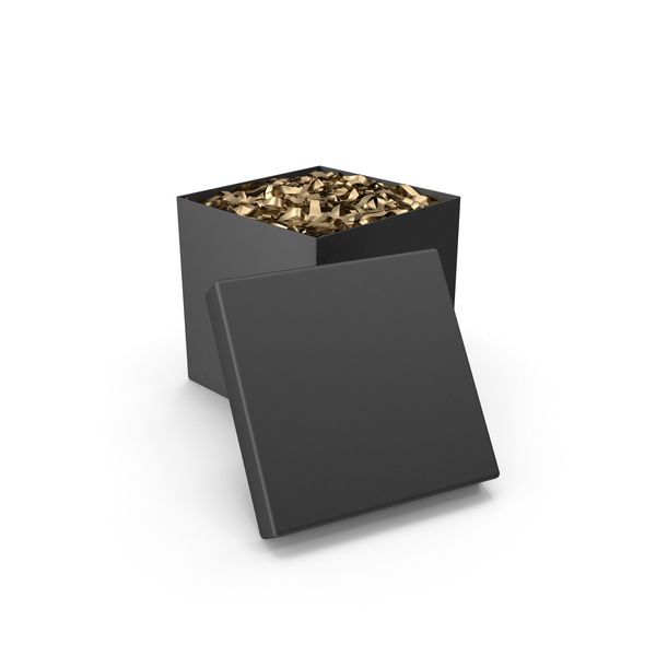 Gift: Black Surprise Box PNG & PSD Images