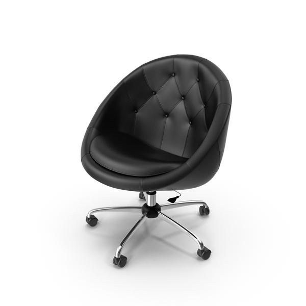 Black Swivel Chair Object