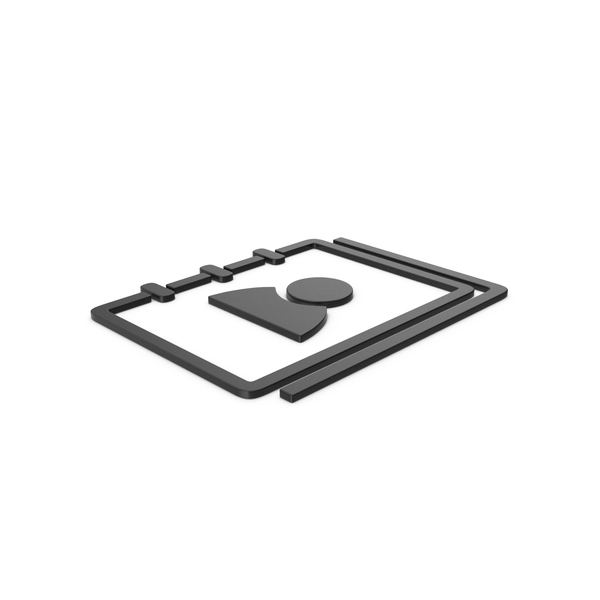 Computer Icon: Black Symbol Address Book PNG & PSD Images