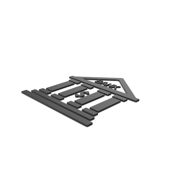 Computer Icon: Black Symbol Bank PNG & PSD Images