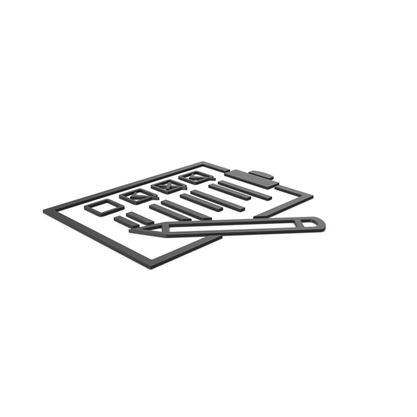 Industrial Equipment: Black Symbol Checklist PNG & PSD Images