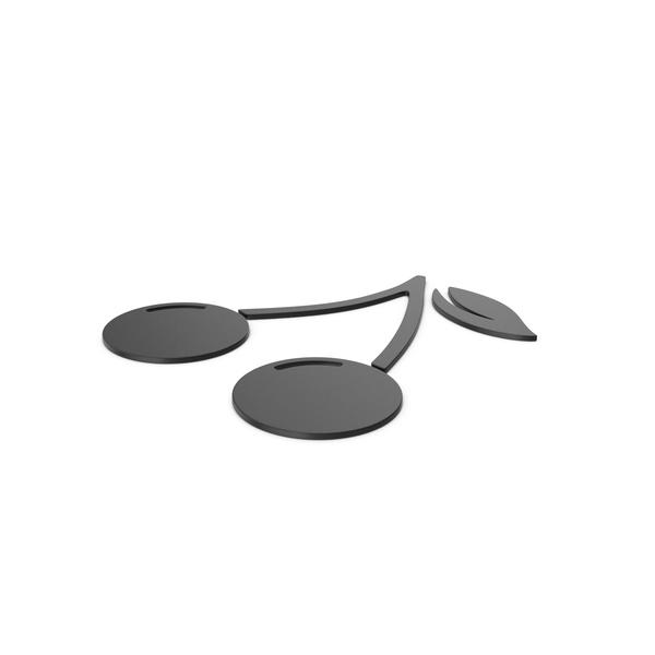 Black Symbol Cherries PNG & PSD Images