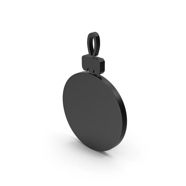 Black Symbol Christmas Ornament PNG & PSD Images