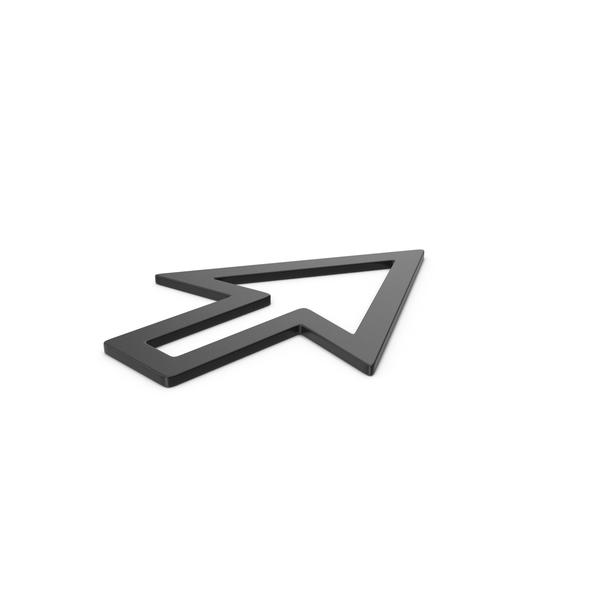 Black Symbol Cursor Arrow PNG & PSD Images