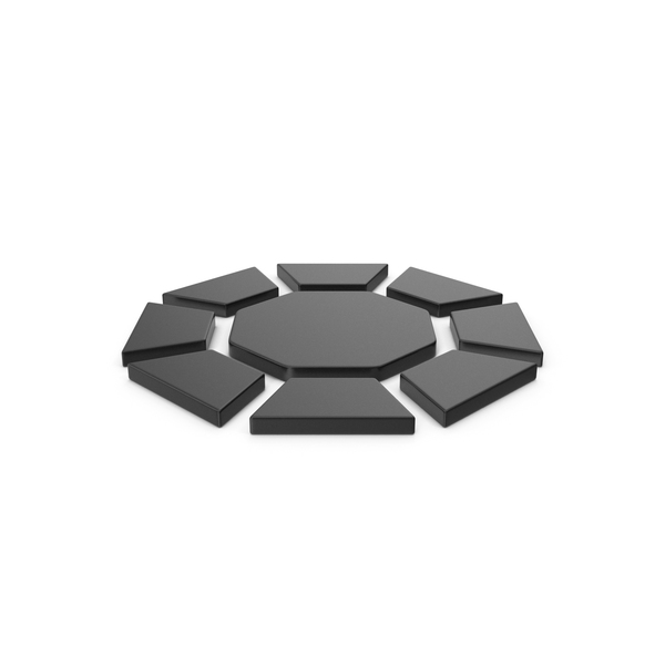 Logo: Black Symbol Diamond / Octagon PNG & PSD Images
