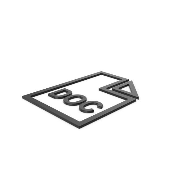 Holder: Black Symbol DOC File PNG & PSD Images
