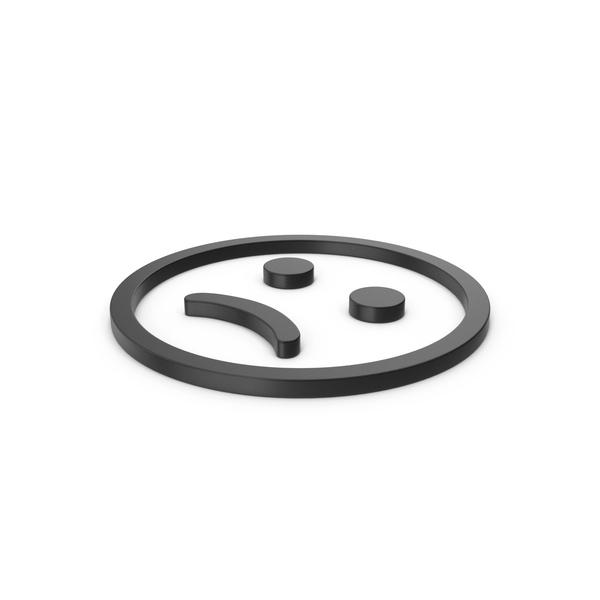 Facial Expression: Black Symbol Emoji Frowning Face PNG & PSD Images