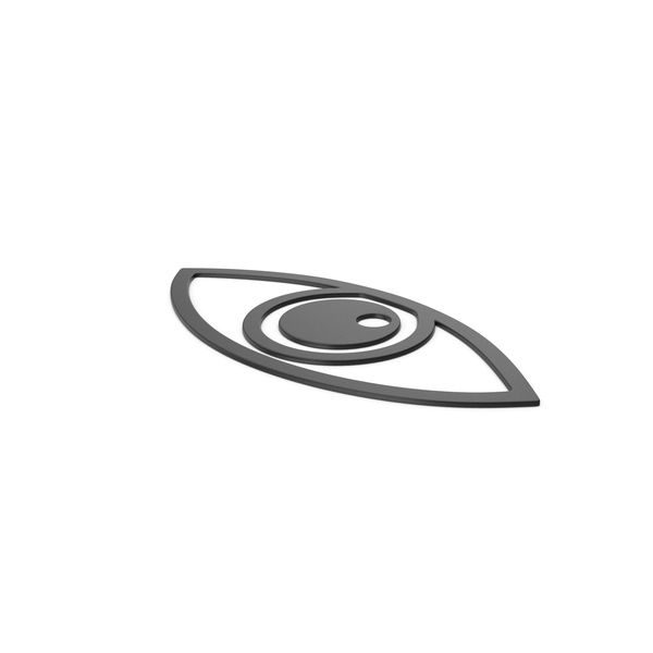 Computer Icon: Black Symbol Eye PNG & PSD Images