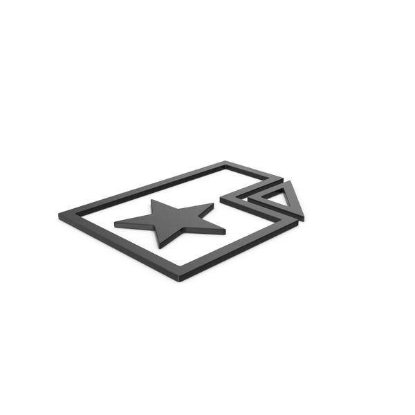 Computer Icon: Black Symbol Favorite File PNG & PSD Images