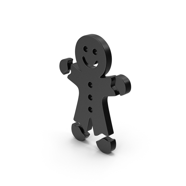 Black Symbol Gingerbread Man PNG & PSD Images