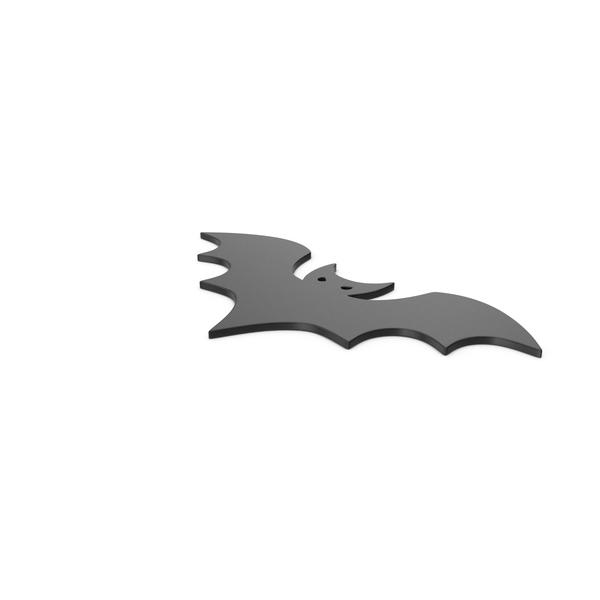 General Decor: Black Symbol Halloween Bat PNG & PSD Images