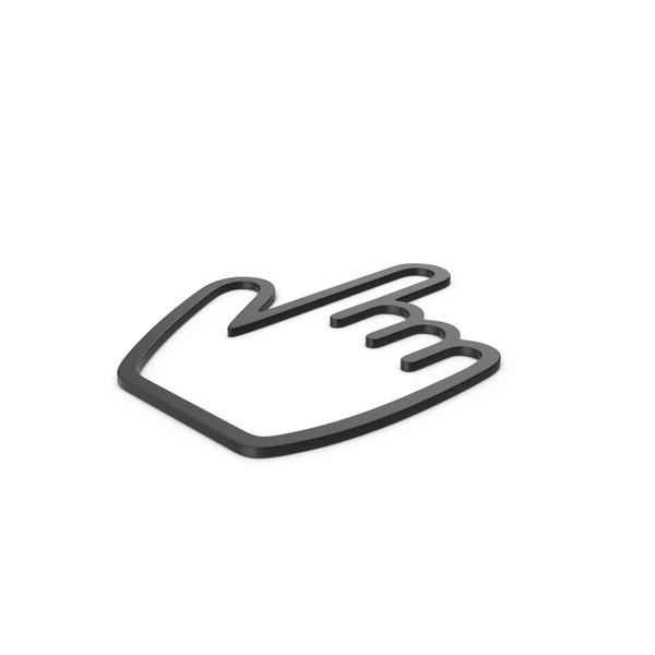 Black Symbol Hand Cursor PNG & PSD Images