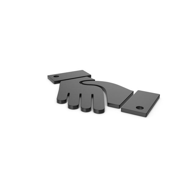 Computer Icon: Black Symbol Handshake PNG & PSD Images