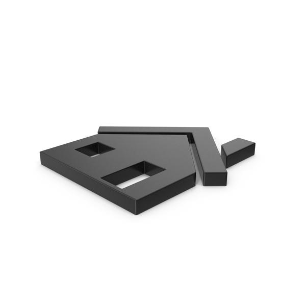 Symbols: Black Symbol House PNG & PSD Images