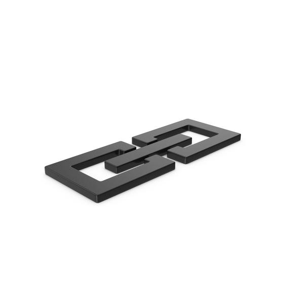 Black Symbol Link Chain PNG & PSD Images
