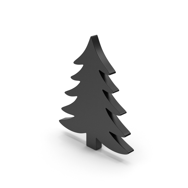 Logo: Black Symbol Pine Tree PNG & PSD Images