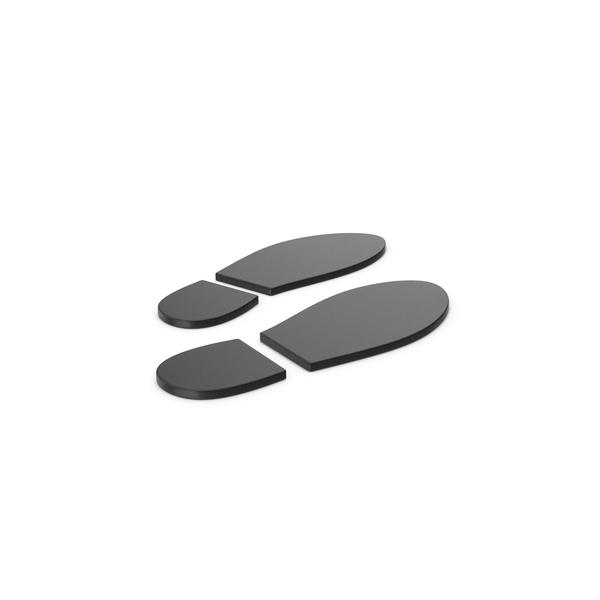 Ornamental Grass: Black Symbol Shoe Footprint PNG & PSD Images