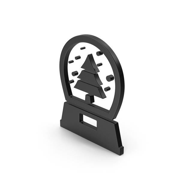 Logo: Black Symbol Snow Globe PNG & PSD Images