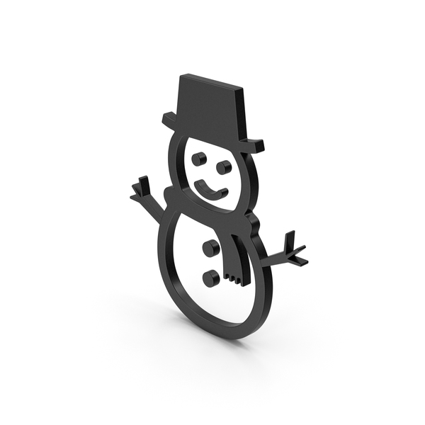 Black Symbol Snow Man PNG & PSD Images