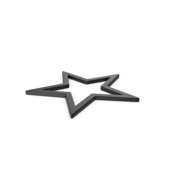 Black Symbol Star PNG & PSD Images