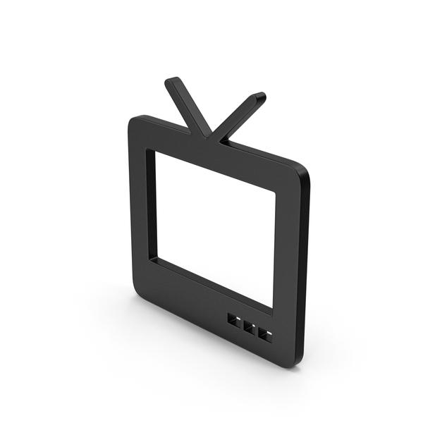 Black Symbol TV PNG & PSD Images
