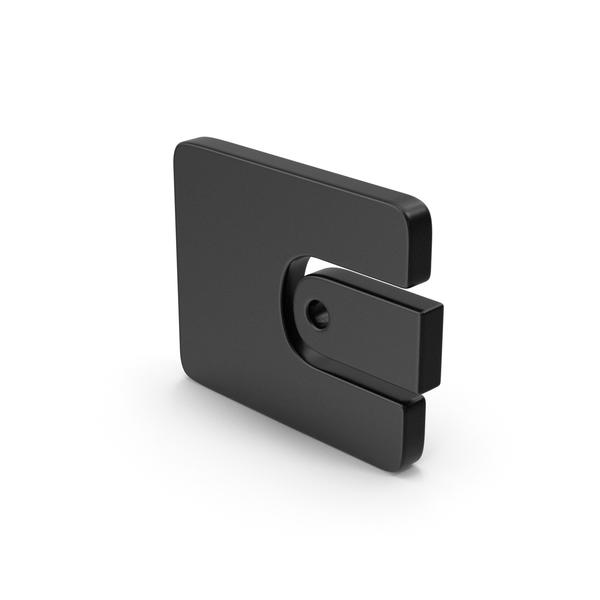 Black Symbol Wallet PNG & PSD Images