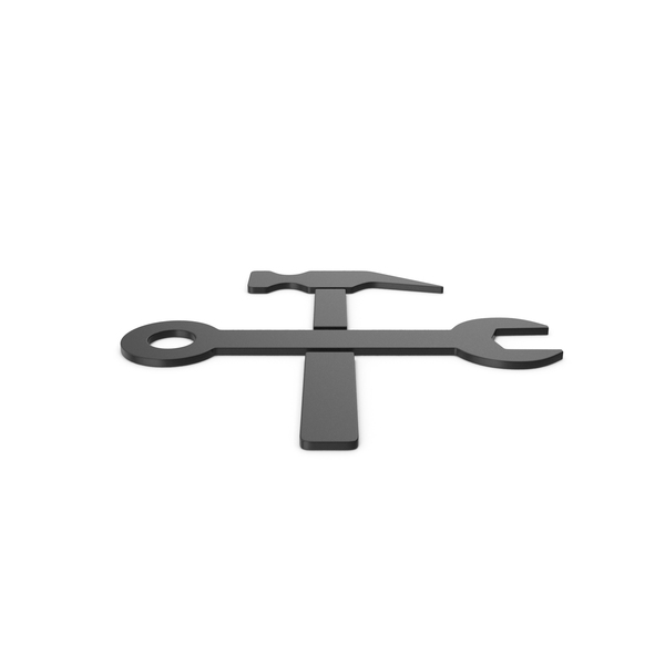 Symbols: Black Symbol Wrench And Hammer PNG & PSD Images