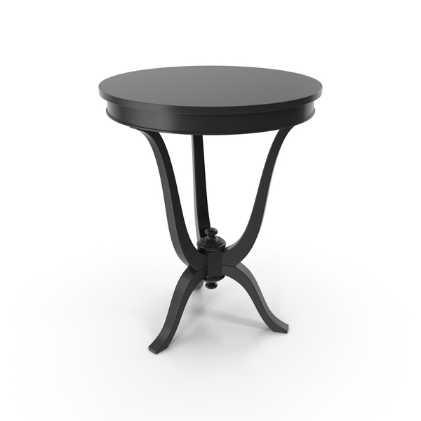 Black Vaniglia Venetta Side Table 8789T Round PNG & PSD Images