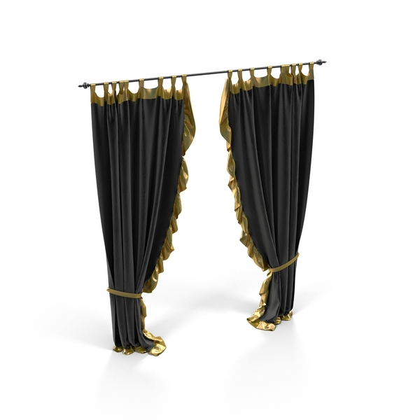 Rod: Black Velvet Curtain PNG & PSD Images