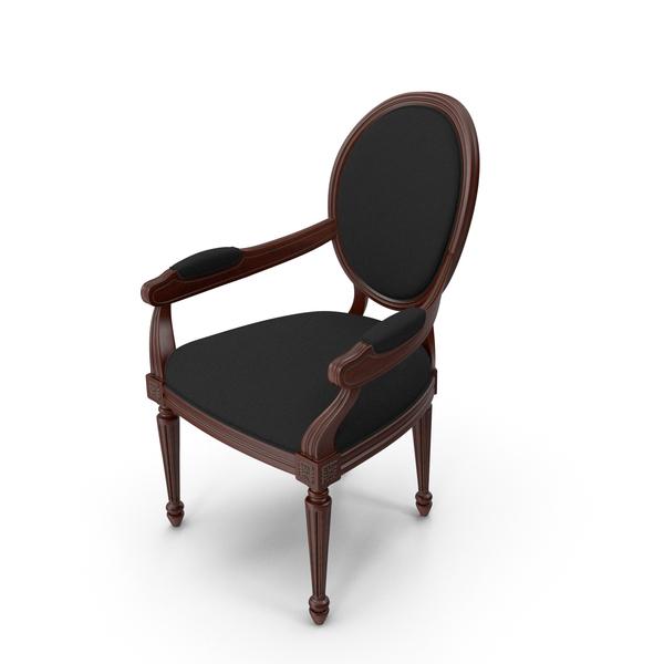 Arm: Black Velvet Dinning Chair PNG & PSD Images