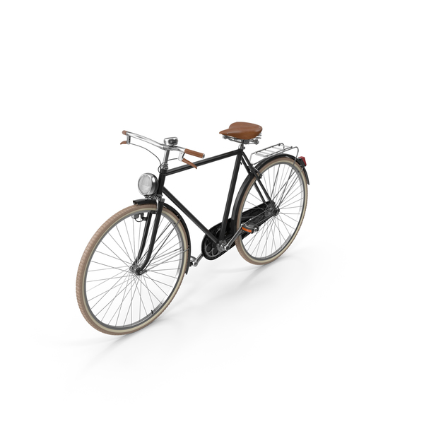 Black Vintage Bicycle PNG & PSD Images