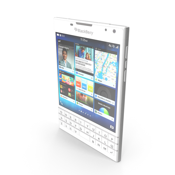 BlackBerry Passport White PNG & PSD Images