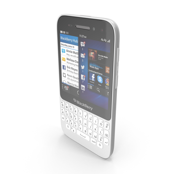 Smartphone: BlackBerry Q5 White PNG & PSD Images