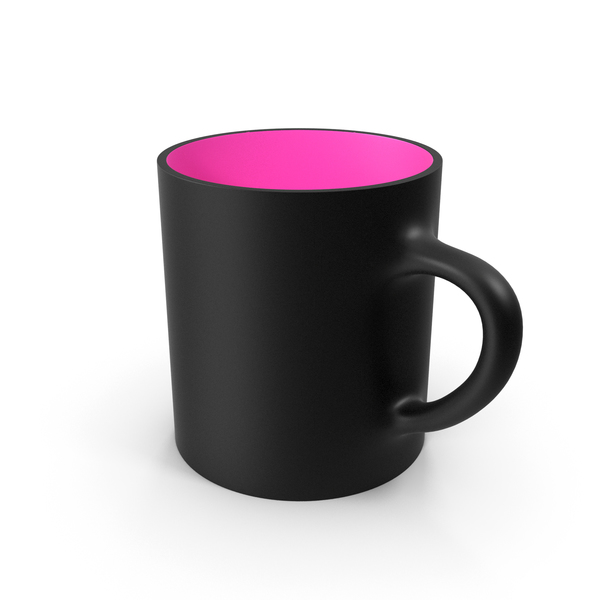 Coffee: Blank and Pink Cup PNG & PSD Images