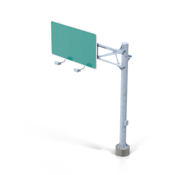 Blank Highway Sign Object
