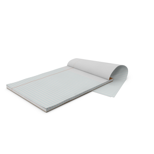 Blank White Writing Pad PNG & PSD Images
