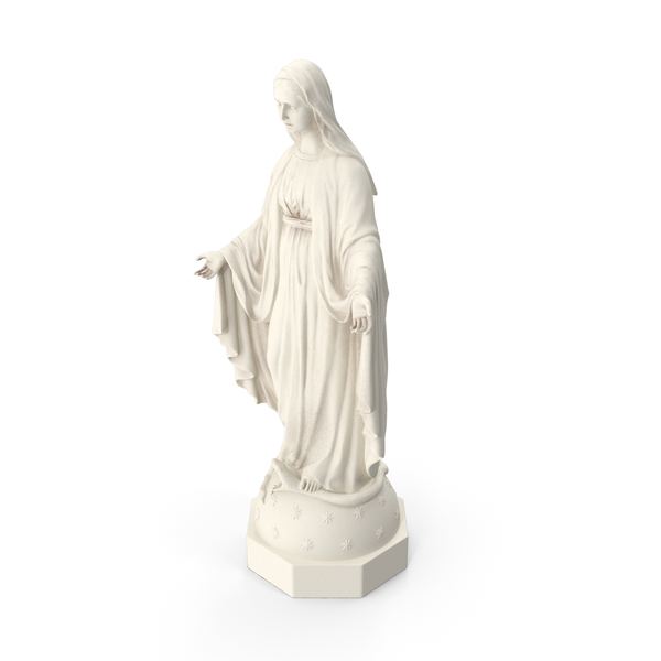 Blessed Virgin Mary Statue Marble PNG & PSD Images