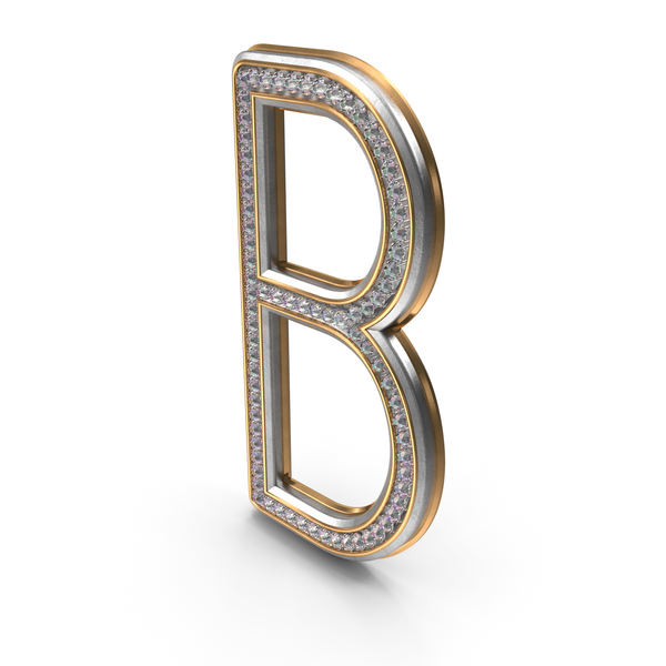 Bling Diamonds Letter B PNG & PSD Images